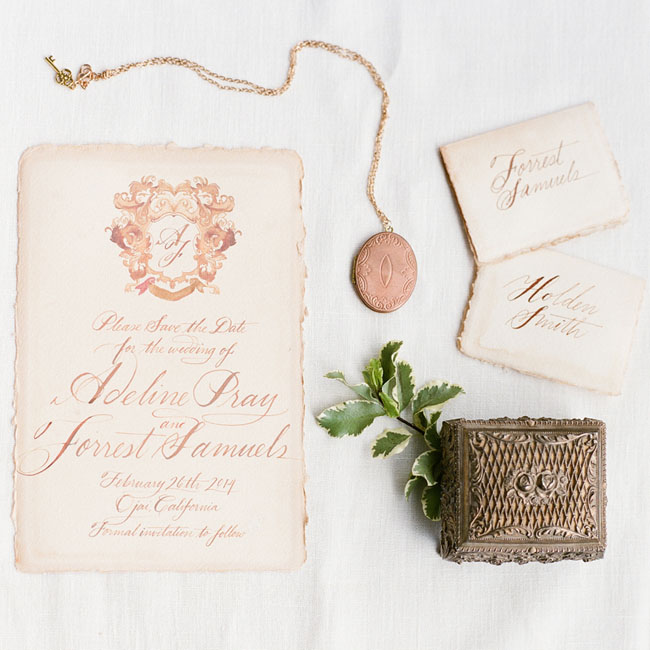 italian inspired invitation