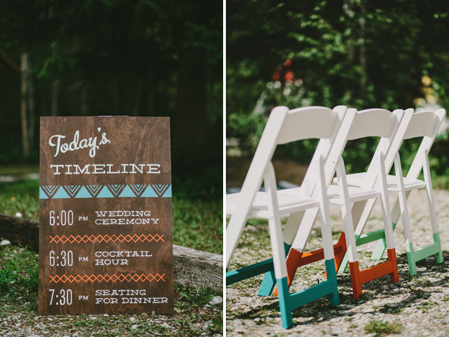color dipped chairs