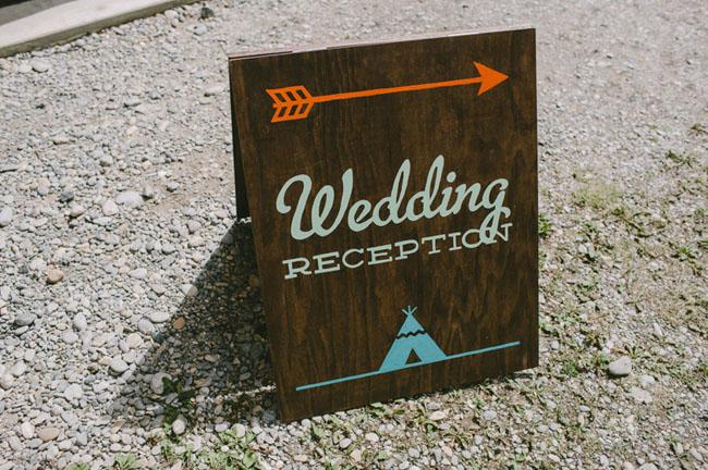 aztec wedding sign