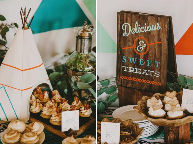 teepee dessert table decor
