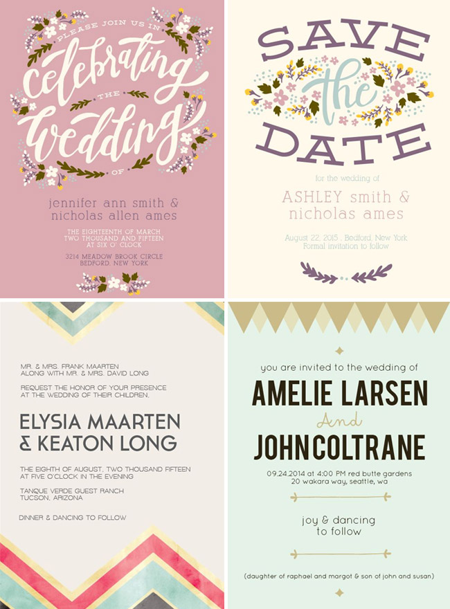Basic Invite Wedding Invitations