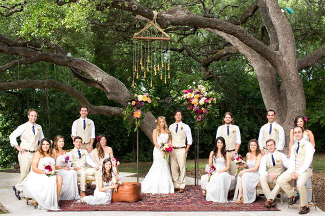 Boho Summer Wedding in Austin Katie Jonathan Green Wedding