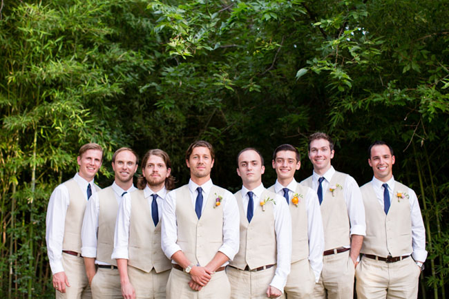 tan suit groomsmen