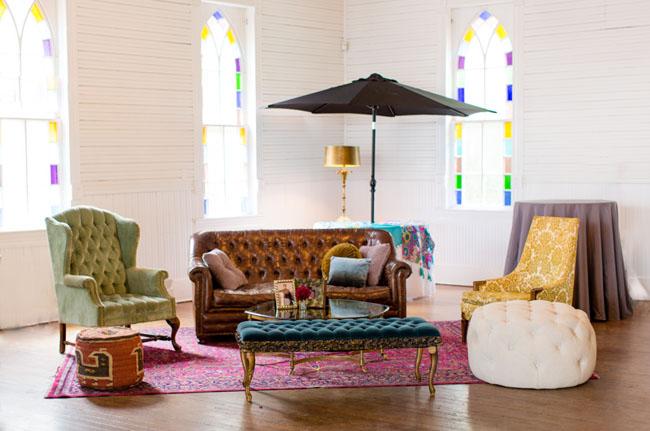 boho vintage lounge