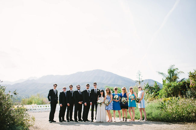 ojai wedding party