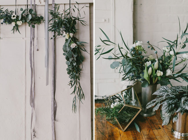 winter garland backdrop