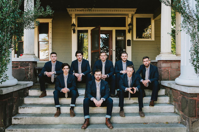 groomsmen in blue