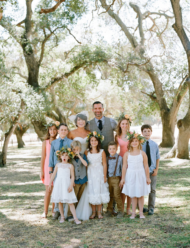little ones with bride and groom