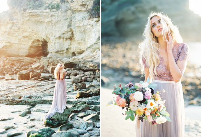 Ethereal seaside wedding inspiration with a lavender wedding dress emily rose riggs purple dress junglespirit Choice Image