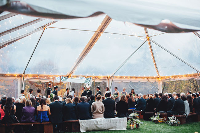 tented Vermont ceremony