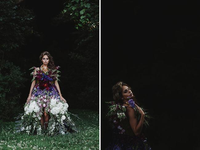 dress made of flowers
