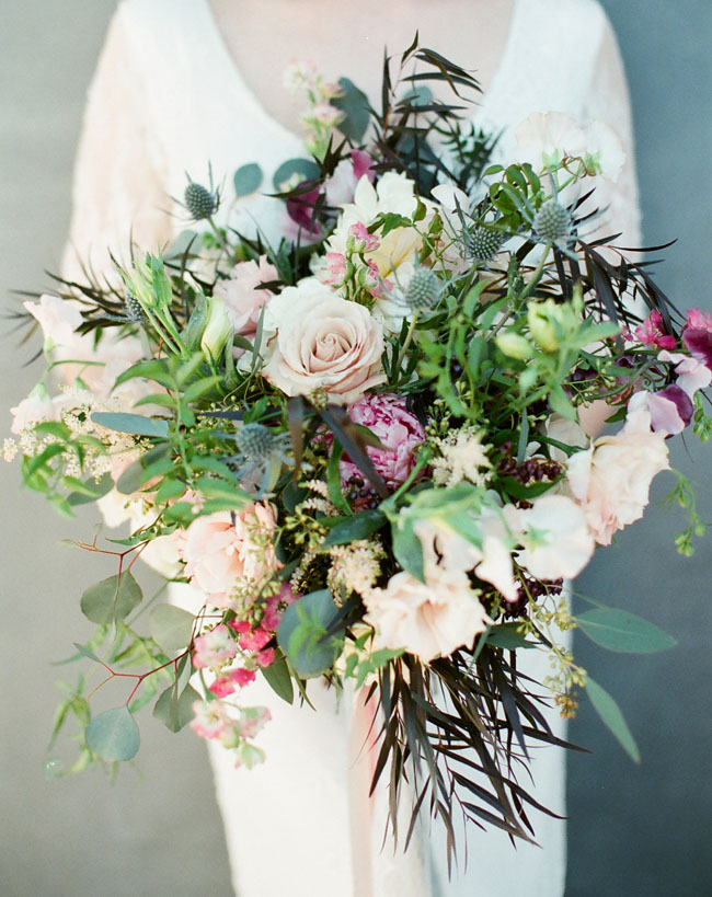 folksy loose romantic bouquet