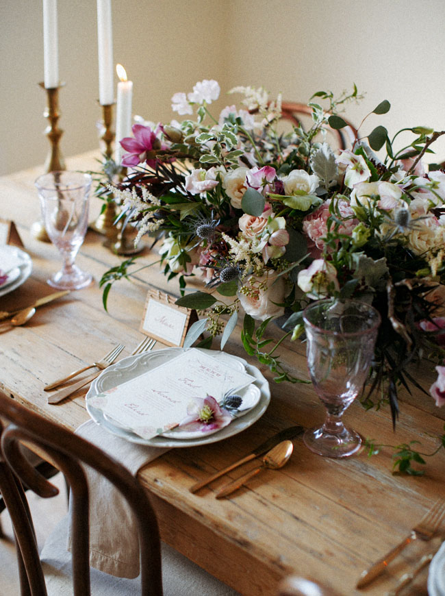 romantic folksy tablescape