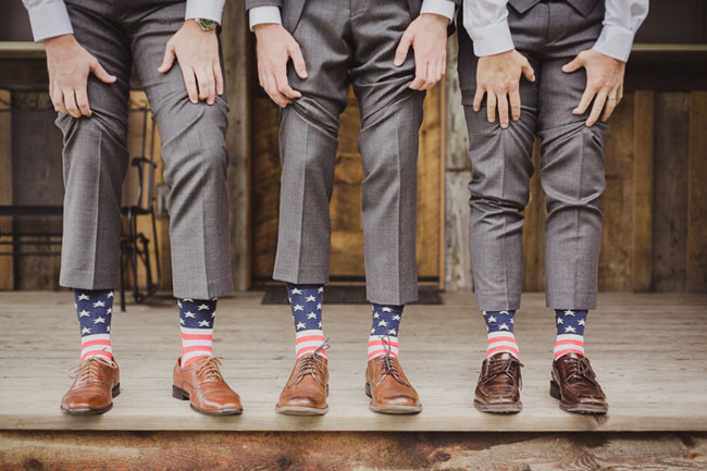 Flag Wedding Dress 28 Good american flag socks