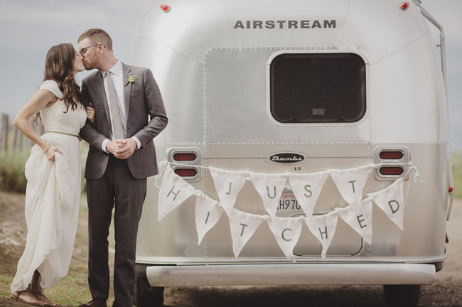 airstream with bunting