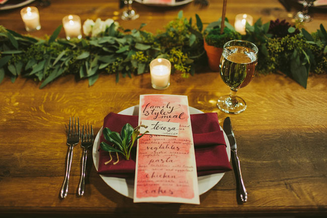 watercolor menus