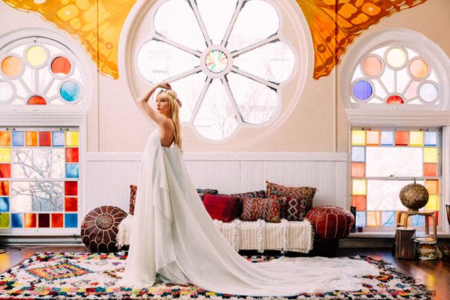 flowing gypsy wedding dress