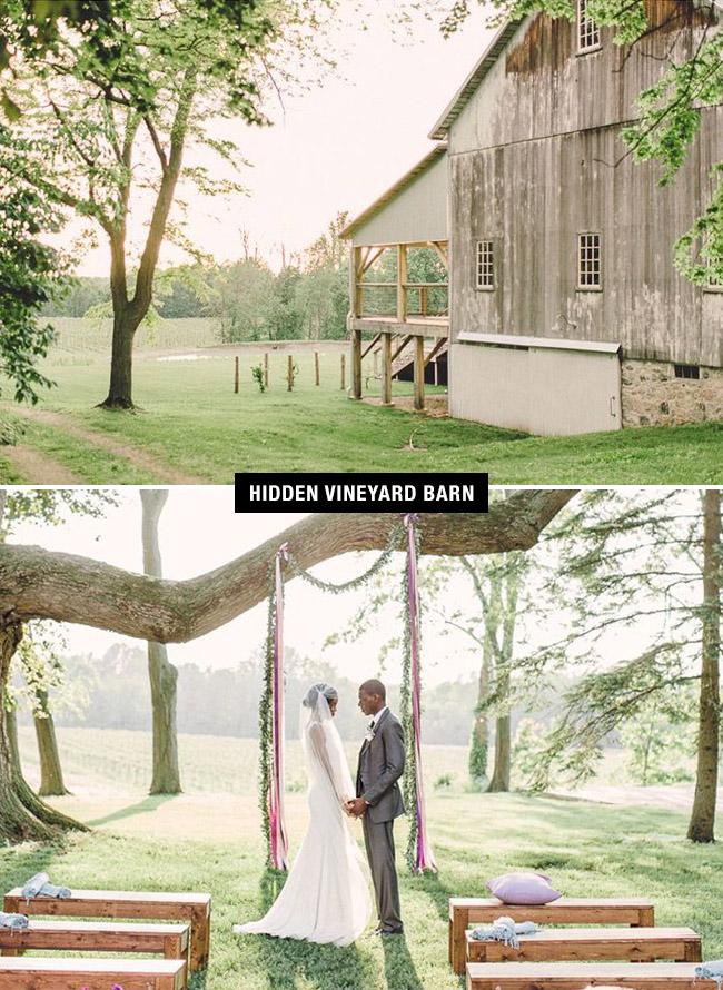 Barn or vineyard wedding