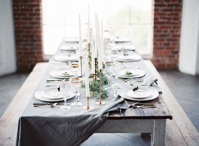 soft blue tablescape