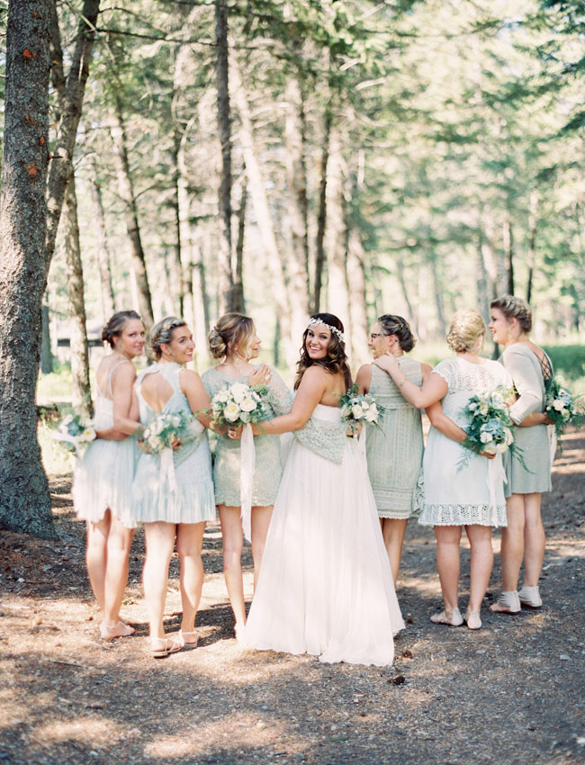 mint colored bridesmaids