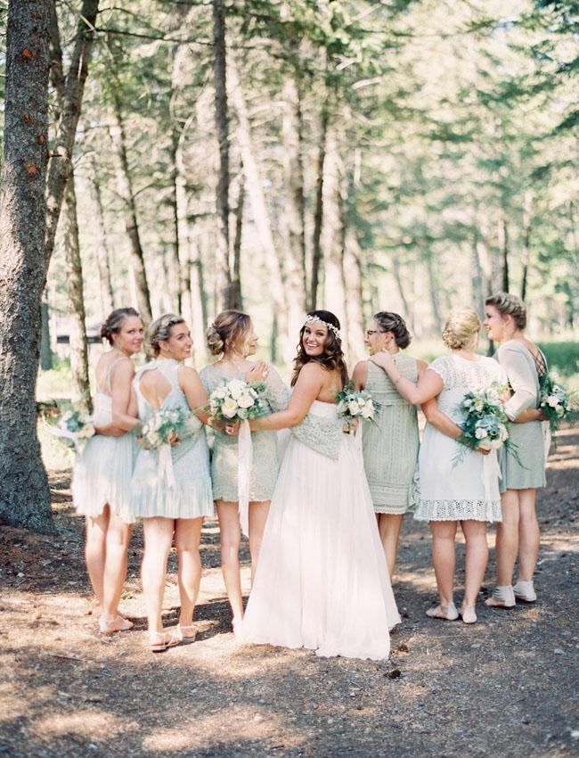 mint colored bridesmaids