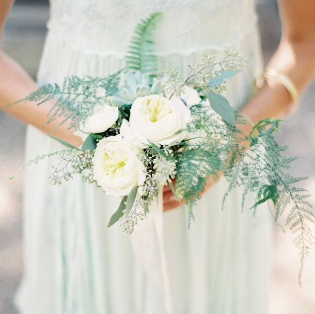 fern and rose bouquet