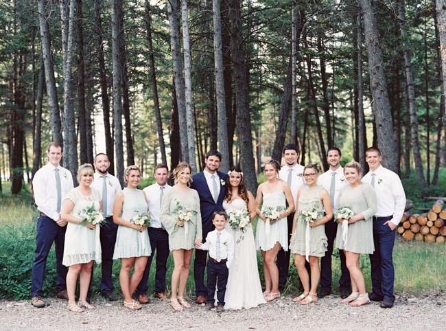 woodsy wedding party