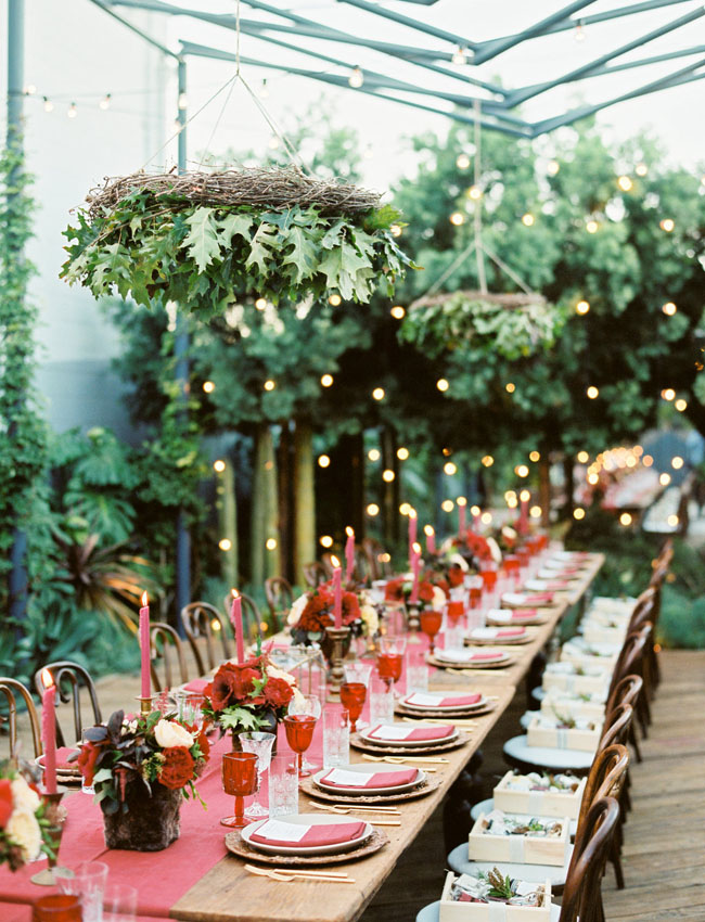 hanging greenery chandeliers