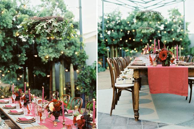 hanging greenery chandeliers