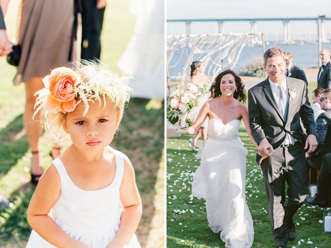 flower girl with hair piece