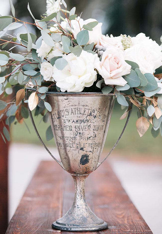 trophy floral centerpiece