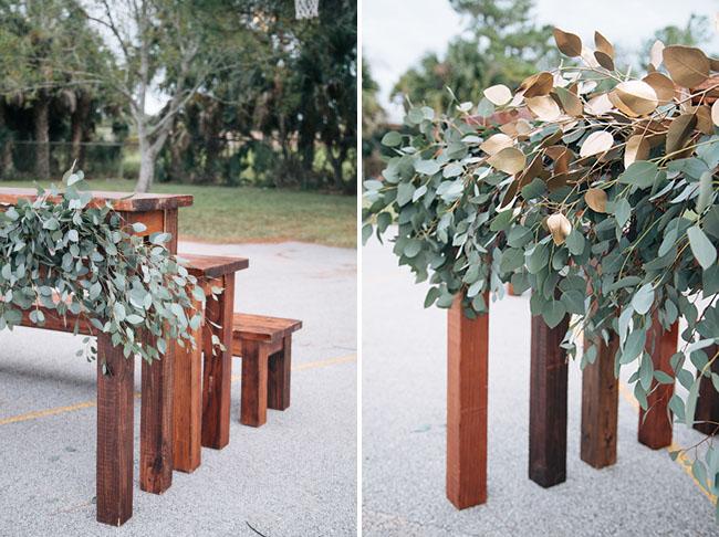 eucalyptus benches