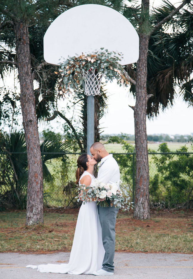 floral basketball hoop