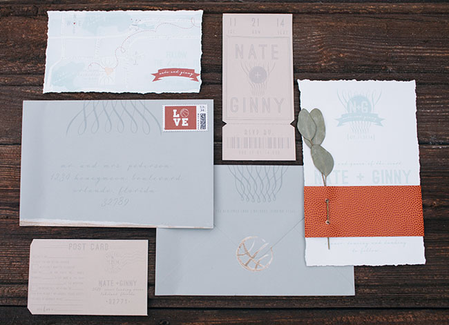 march madness inspired invitation