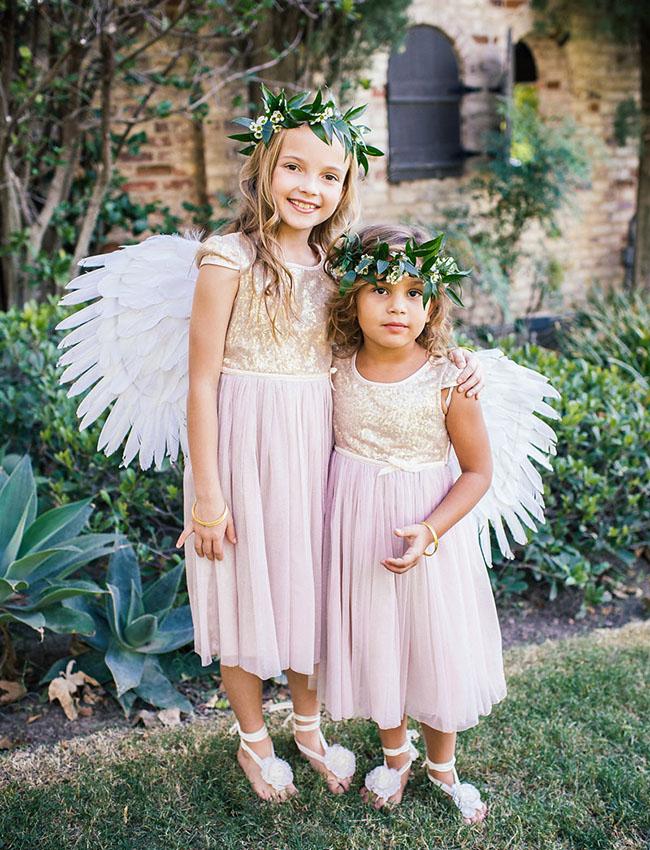 angel wing flower girls