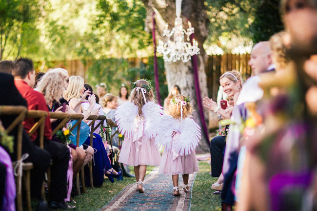 angel wing flower girls
