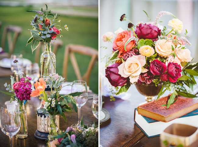 vintage book tablescape