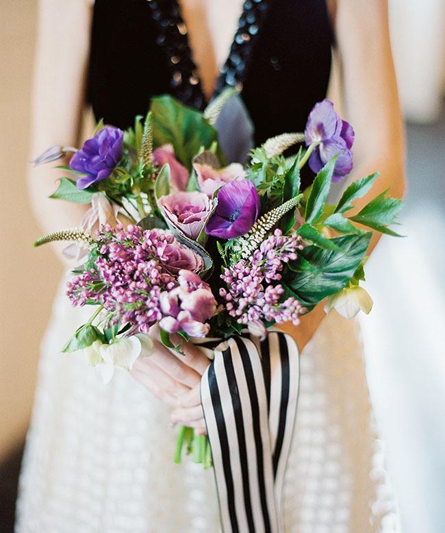 modern purple bouquet
