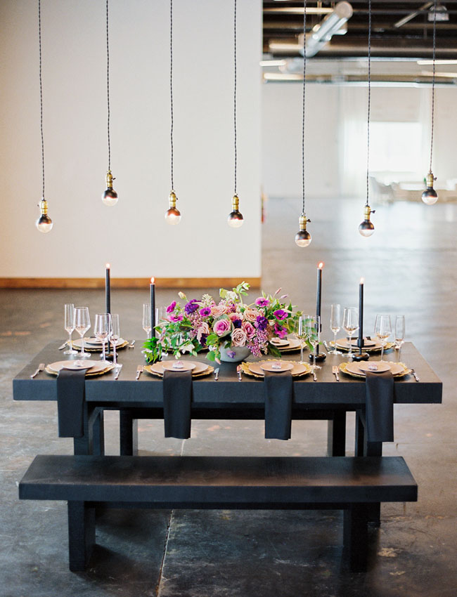 modern industrial tablescape