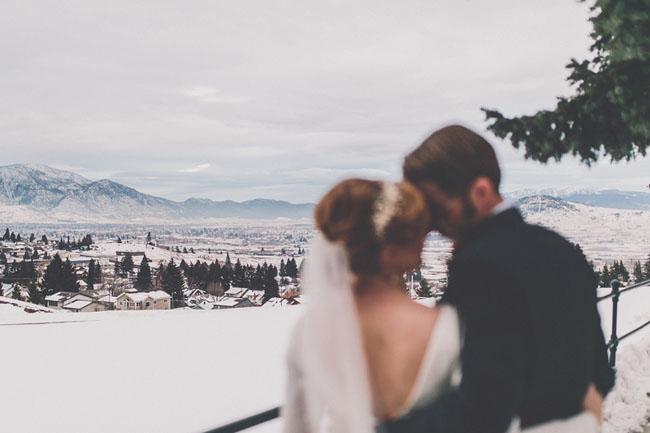 Snowy Montana Wedding