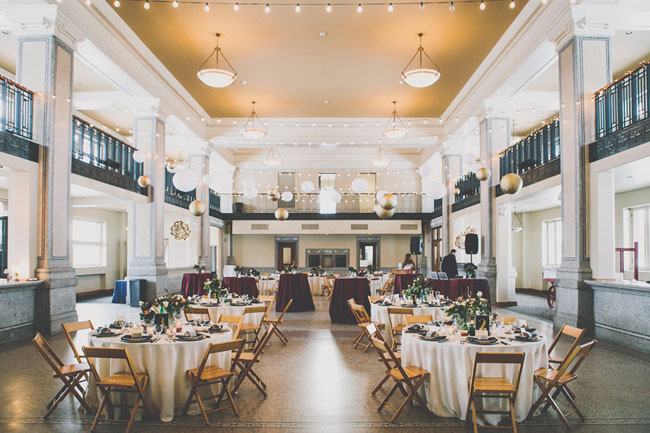 navy blue and red reception