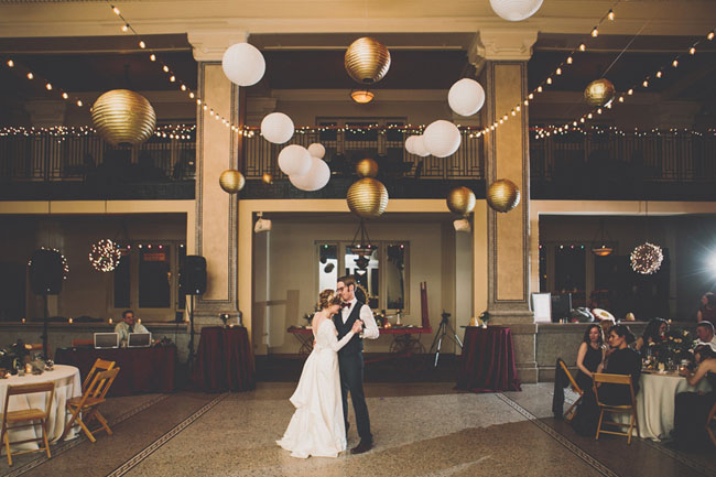 white and gold lanterns