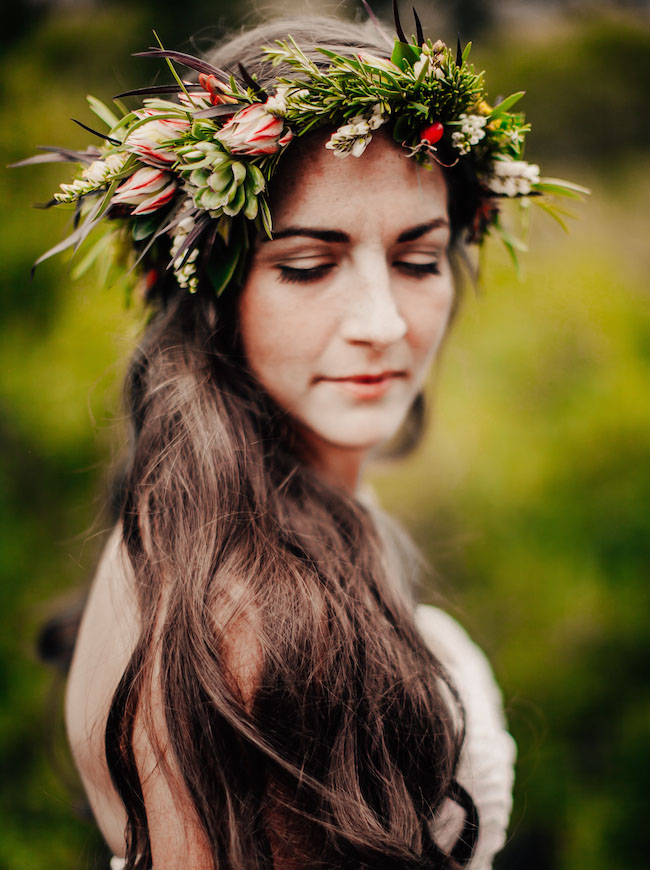 mountain inspired flower crown