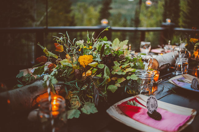 woodland inspired centerpiece