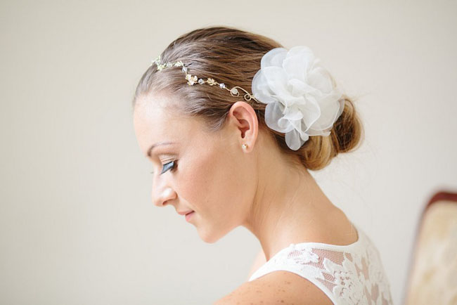 silk flower hair piece