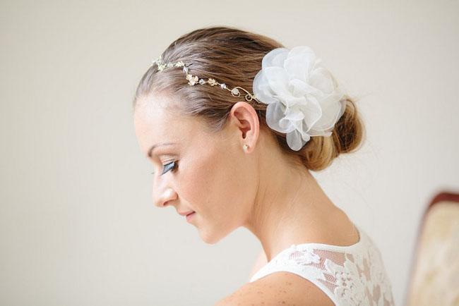 silk flower hair piece