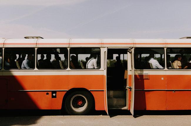 bus to ceremony