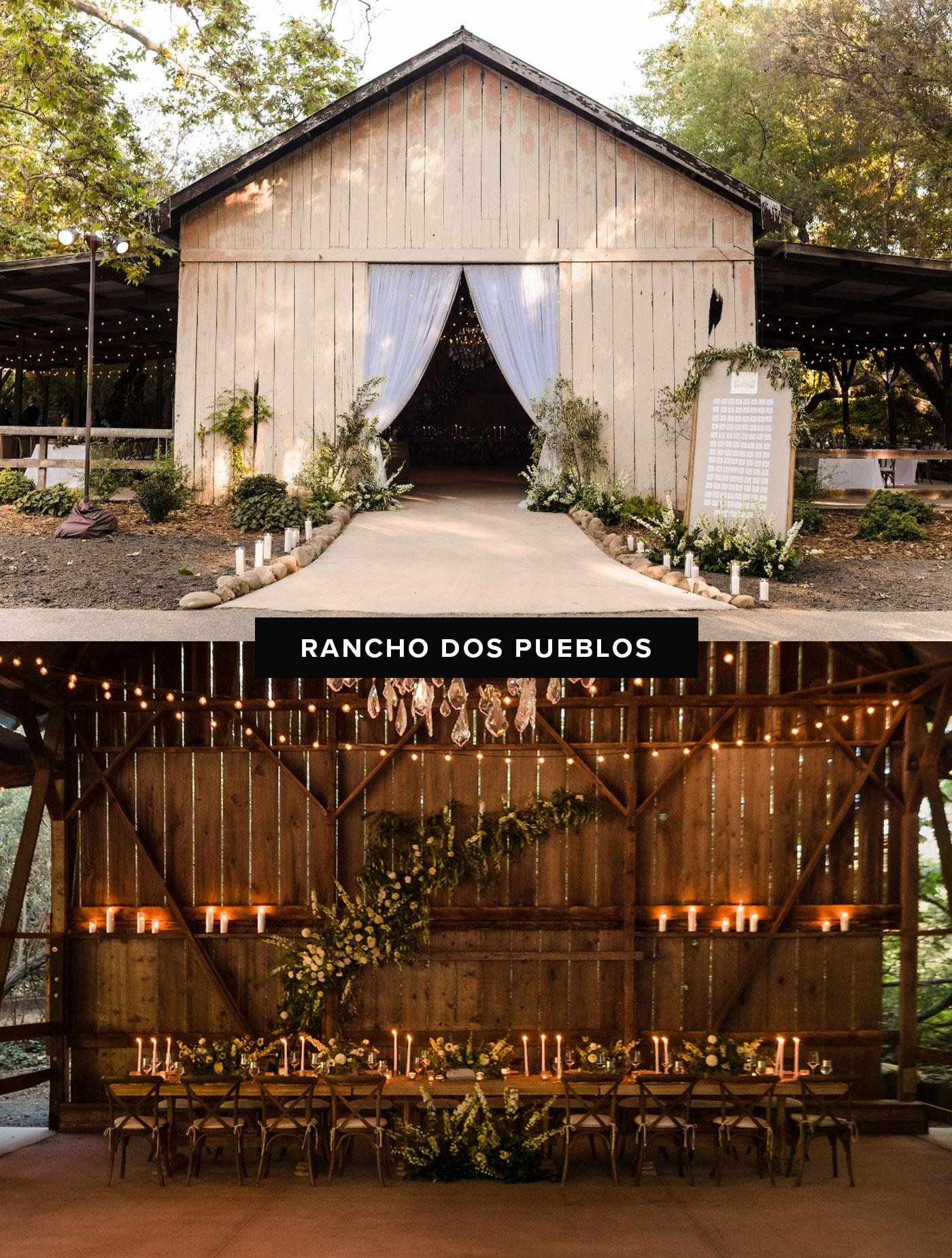 rancho dos pueblos barn wedding venue
