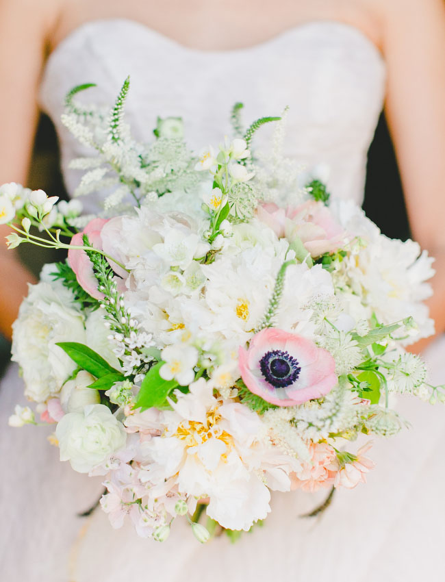 pink anemone bouquet