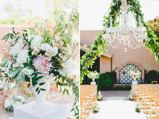 chandelier and garland
